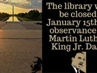 library closed for martin luther king jr day
