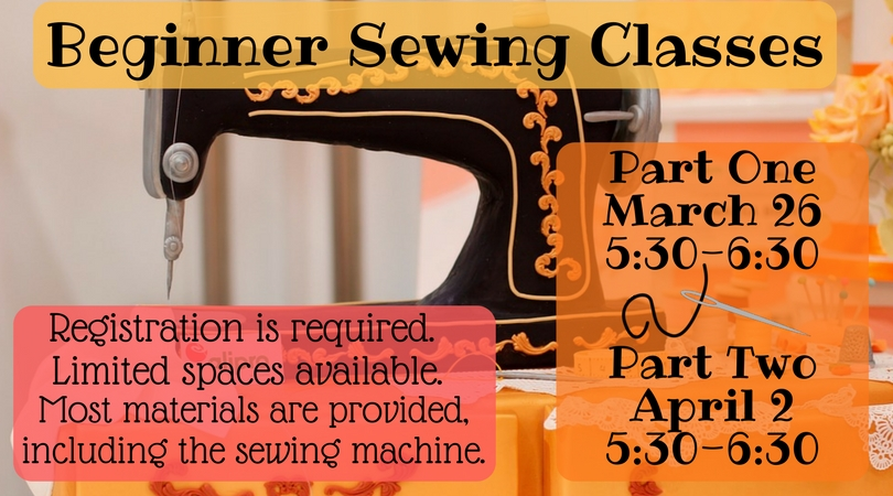Beginner sewing class clinton public library