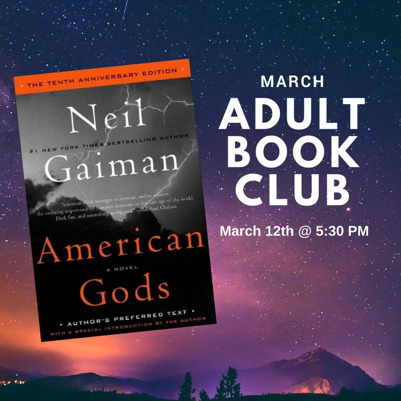 Adult Book Club March 2018