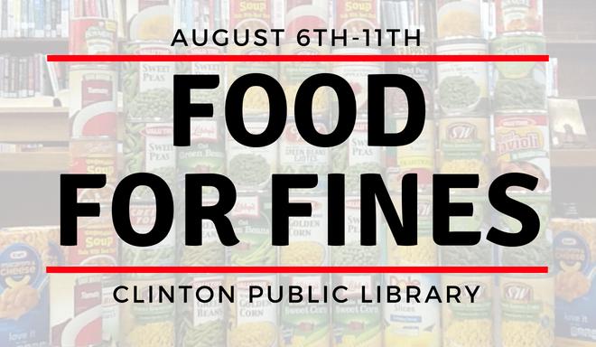 Food for Fines newsletter banner
