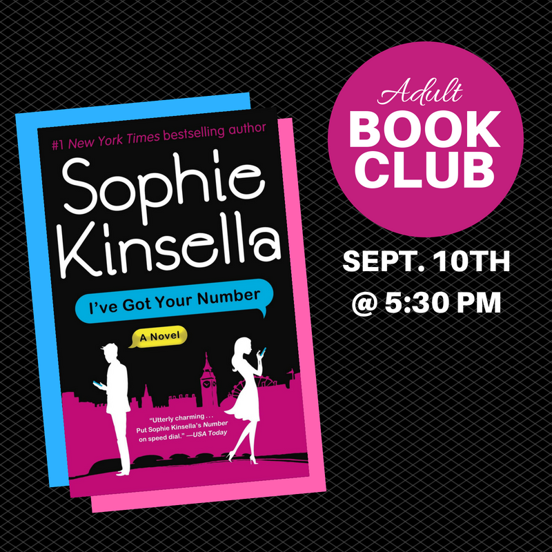 Adult Book Club Sept 2018